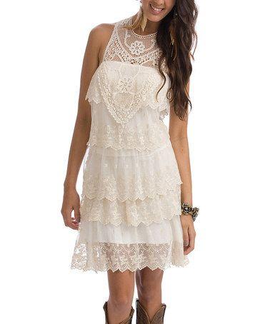 Rancho Estancia Ivory Lace Annie Marie Little Dress - Women ...