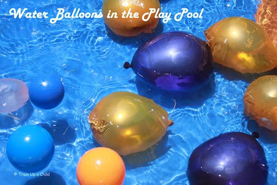 Outdoor Water Balloon and Play Pool Fun!