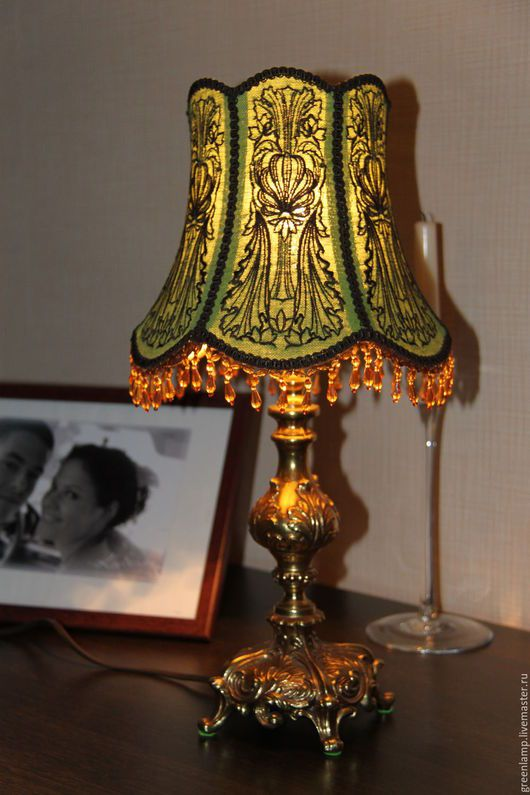 Освещение ручной работы. Ярмарка Мастеров - ручная работа. Купить Зеленая лампа. Handmade. Комбинированный, старинная лампа