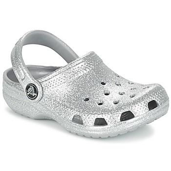 Chinelos / Tamancos Crocs Clsc Sparkle Clg K Prateado 350x350