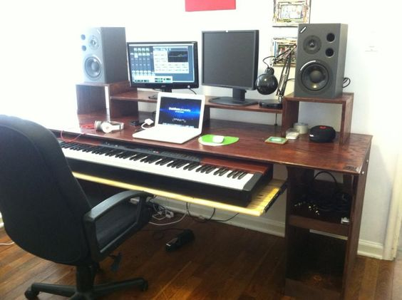 Miraculous Another Angle Of My Music Studio Desk That My Friend And I Built Largest Home Design Picture Inspirations Pitcheantrous