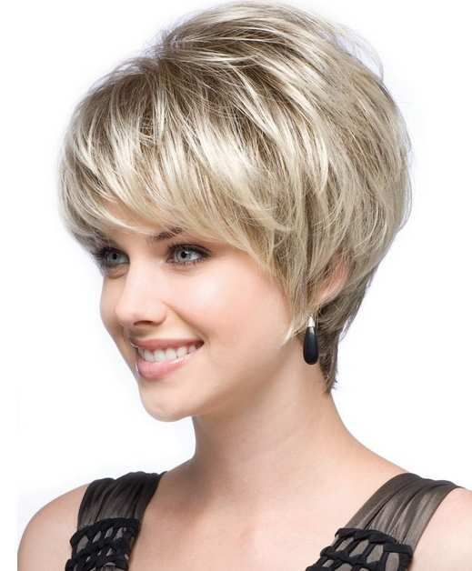 Best and Cute Haircut for Round Faces and Thin Hair of Short Hairstyle For Wo