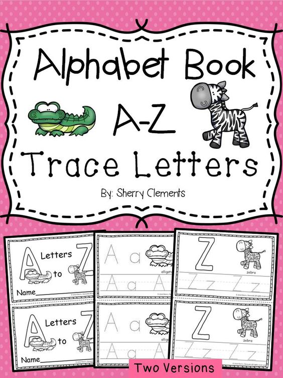Alphabet Book A-Z Trace Letters | The alphabet, The o'jays and Animals