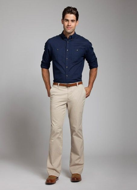 I LOVE KHAKI PANTS ON MEN | Clothes my dapper husband will wear. | Pinterest | Sport pants Up ...