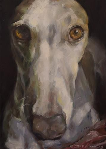 "Daily Paintworks - ""Day 16 - Greyhound"" by Kathleen Coy"