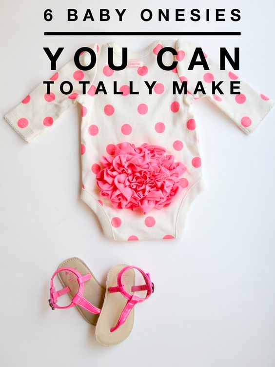 6 baby onesie diys you can totally make babies clothes. Black Bedroom Furniture Sets. Home Design Ideas