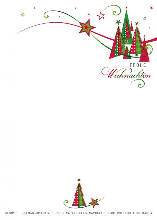 Impression In Rot Grun Briefpapier Weihnachten Weihnachtsbrief Briefbogen
