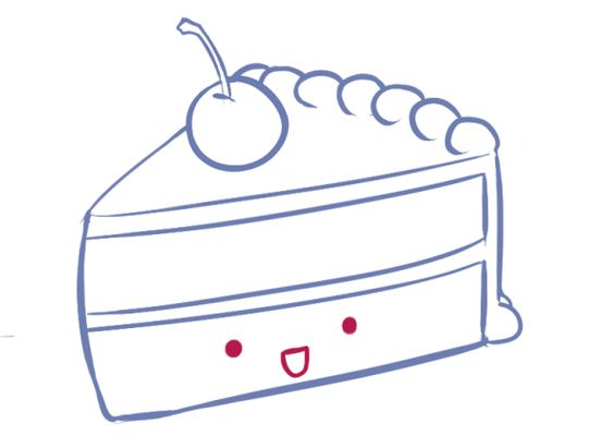 How To Draw a Slice of Cake! *cute* | How To Draw/Design ...