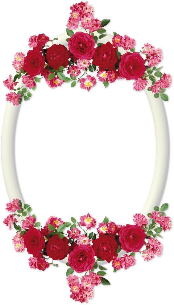 Marcos para fotos marcos ovalados con flores template - Marcos para plantas ...