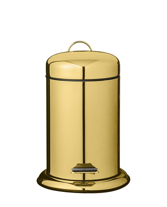 Mülleimer shiny gold