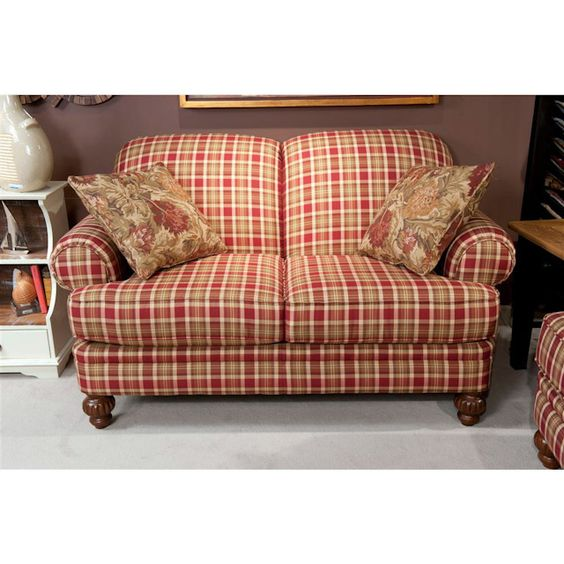 Country Living Room Furniture Sets: Hudson Street Autumn Living Room Loveseat..Charming!