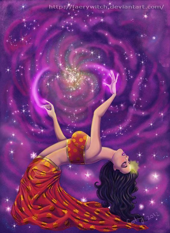 """dance of creation: cosmic goddess"" | by ~faerywitch on deviantART"