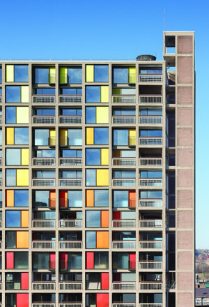 Park Hill housing estate in Sheffield, England by Hawkins Brown