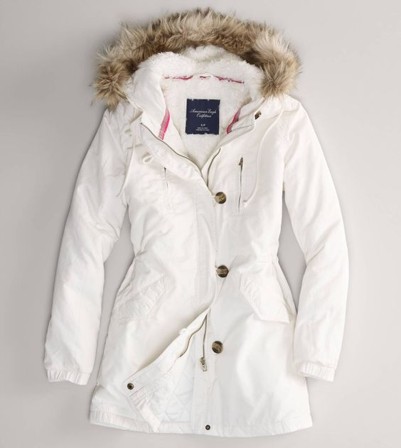 White Parka Jacket - JacketIn