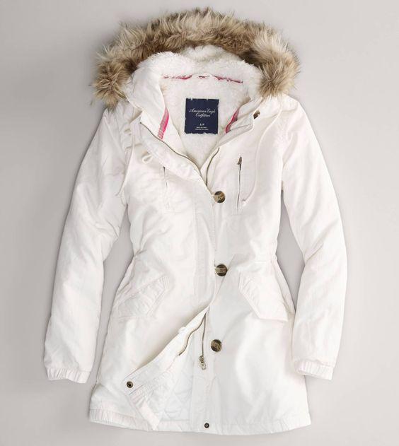 White Parka Jacket - JacketIn