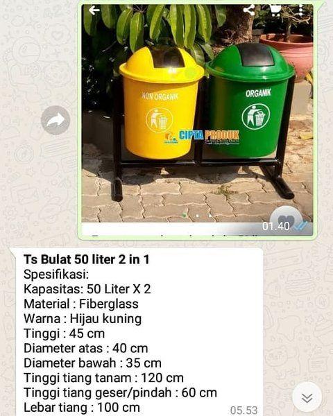 Beli Tong Sampah 2 Pilah Plus Dudukan Besi Dengan Harga Murah
