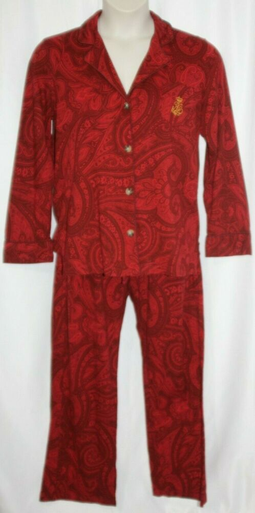 Natori Paisley Pajama Set Looks Medium