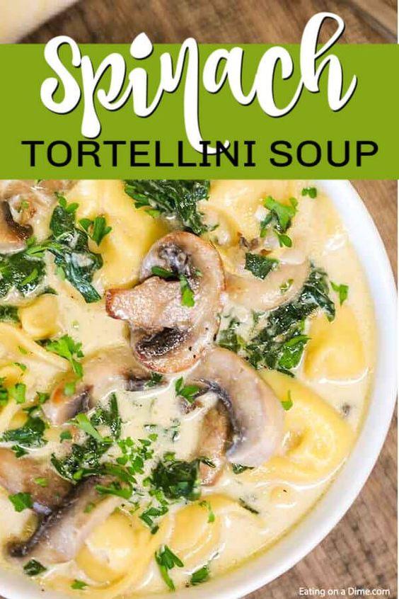Crock Pot Spinach Tortellini Soup