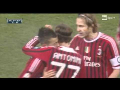 FOOTBALL -  Stephan El Shaarawy Goal vs Novara (Coppa Italia) 18/01/12 - http://lefootball.fr/stephan-el-shaarawy-goal-vs-novara-coppa-italia-180112/