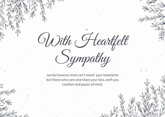 Free Printable Sympathy Cards Luxury Customize 111 Sympathy Card Templates Online Canva Sympathy Card Messages Condolence Card Sympathy Cards