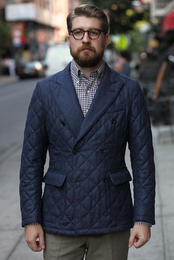 Double Breasted Quilted Jacket From Epaulet Nyc A Bargain