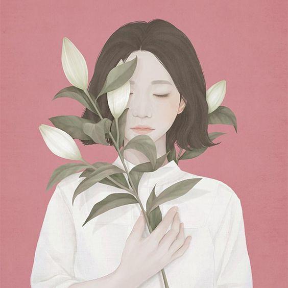 I ritratti floreali di Choi Mi kyung | PICAME: