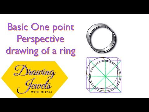 How To Draw A Ring In One Point Perspective Step By Step Drawing Ring Shank Easily Youtube One Point Perspective Point Perspective Sketches Tutorial