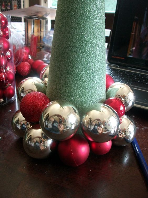 Make Your Own Christmas Tree Love This Styfoam Cone With