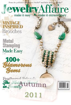 Great Publication for Jewelry Makers and I LOVE the necklace on this cover