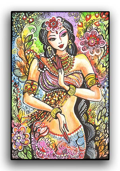Fairy Fantasy Art Mermaid Art  Little Goddess Series by evitaworks, $15.00