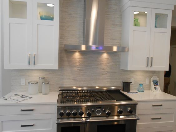 stacked stone backsplash backsplash designs pinterest stone