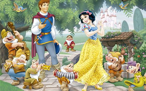 Princess Snow White Prince Ferdinand And Seven Dwarfs Hd Wallpaper High Definition 1920 1200 10 In 2020 Snow White Prince Disney Princess Snow White Snow White Disney