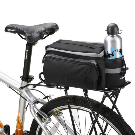 Bicycle Bike Cycle Rear Rack Bag Cargo Carrier Saddle Seat Bag 13L Black Blue