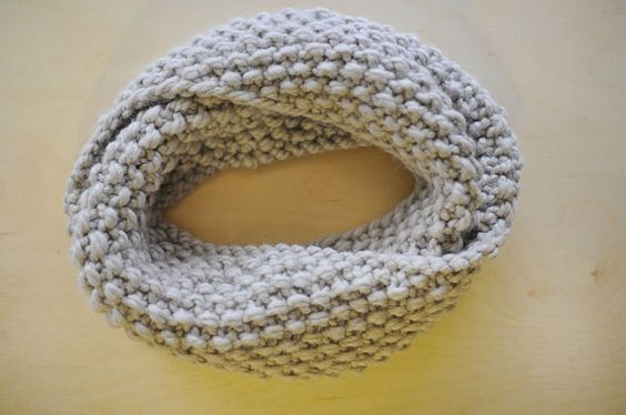 This is coming my way! :) Chunky Twisted Cowl in Natural Linen by mumsybird on Etsy