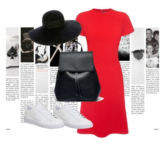 """""""Untitled #116 street style"""" by susans-sg ❤ liked on Polyvore featuring Alexander McQueen, NIKE, Sole Society and Eugenia Kim"""