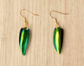 Pendants d'oreilles / bijoux de Boucles d'oreilles chic / Iridescent / Beetle battants bijoux / Gypsy élégant bib boucle d'oreille de la déclaration