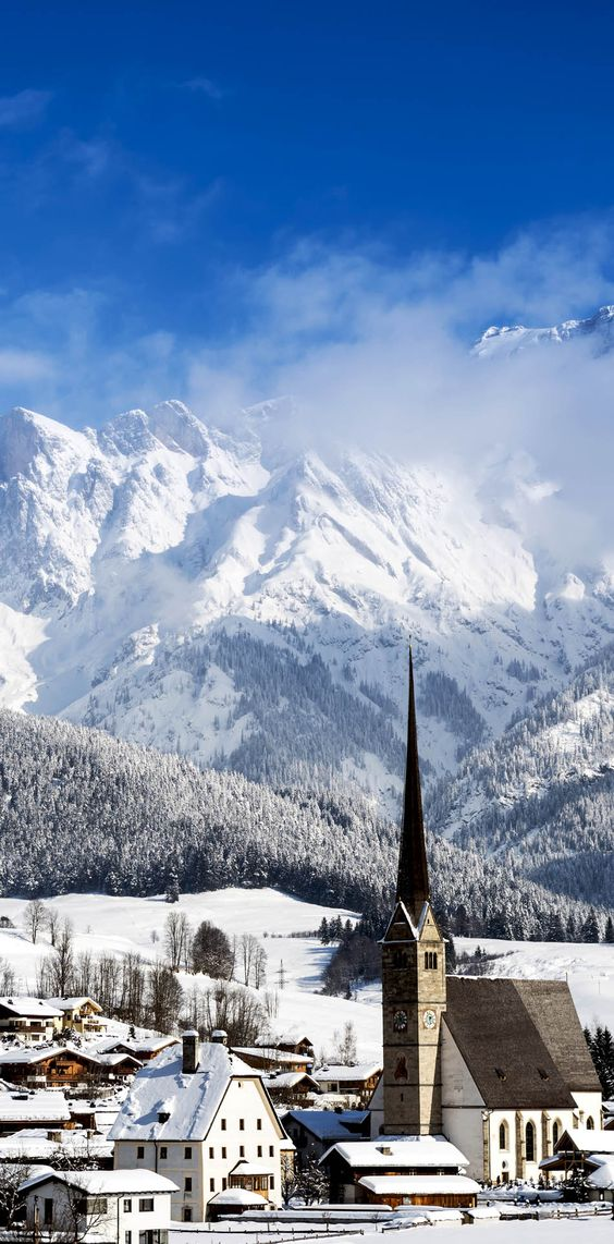 Scenic View of Maria Alm in Winter | 30+ Truly Charming Places To See in Austria. Mühlbach am Hochkönig, landkreis Maria Alm