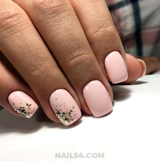 55 Easy Nail Art Designs For Beginners Solid Color Nails Simple Nail Art Designs Prom Nails