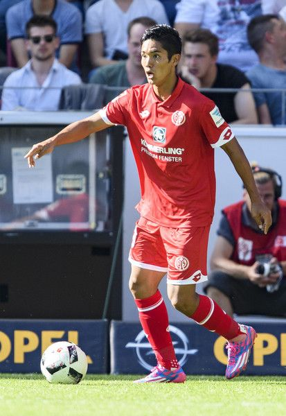 Yoshinori Muto of Mainz 05 during the friendly match between 1. FSV Mainz 05 and Liverpool FC at Opel Arena on August 7, 2016 in Mainz,…