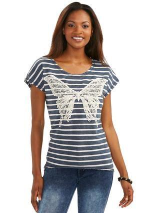 Cato Fashions Butterfly High Low Sweatshirt #CatoFashions