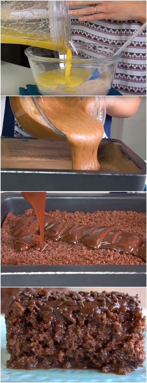 Bolo Gelado de Brigadeiro,super fofinho e molhadinho. #doce #doces #sobremesa #sobremesas #bolodebrigadeiro #chocolate #brigadeiro