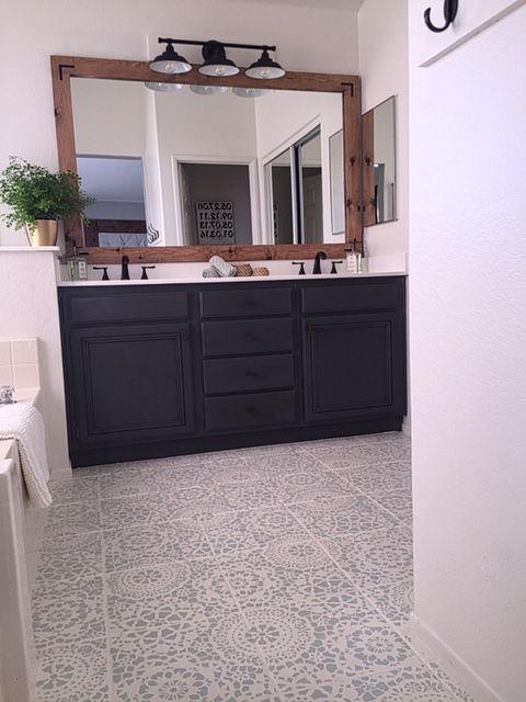 Painting Bathroom Floor