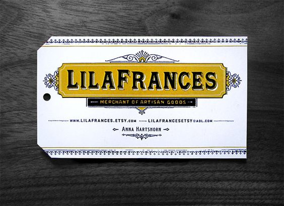 Lilafrances business card