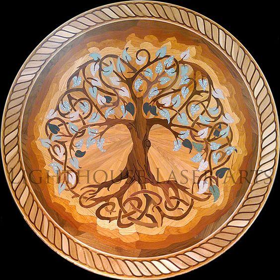 Pinterest the world s catalog of ideas for Wood floor medallion designs