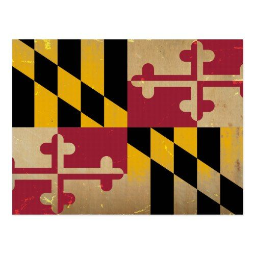 Maryland Flag Vintage Png Postcard Zazzle Com Maryland Flag State Flags Flag