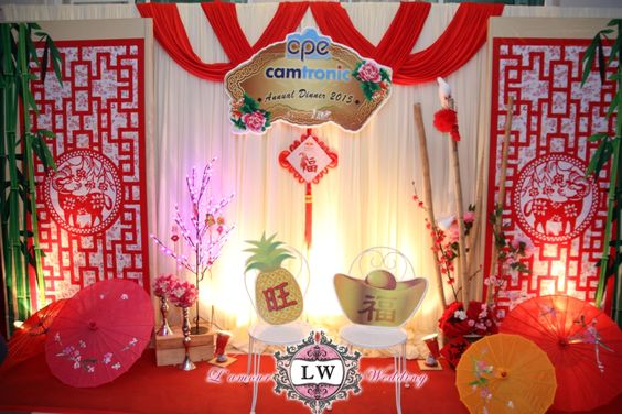 Chinese new year theme company annual dinner photo booth wedding decoration pinterest new - Photo decoration ideas ...