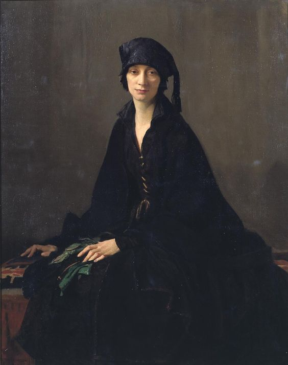 George Spencer Watson, A Lady in Black (1922)