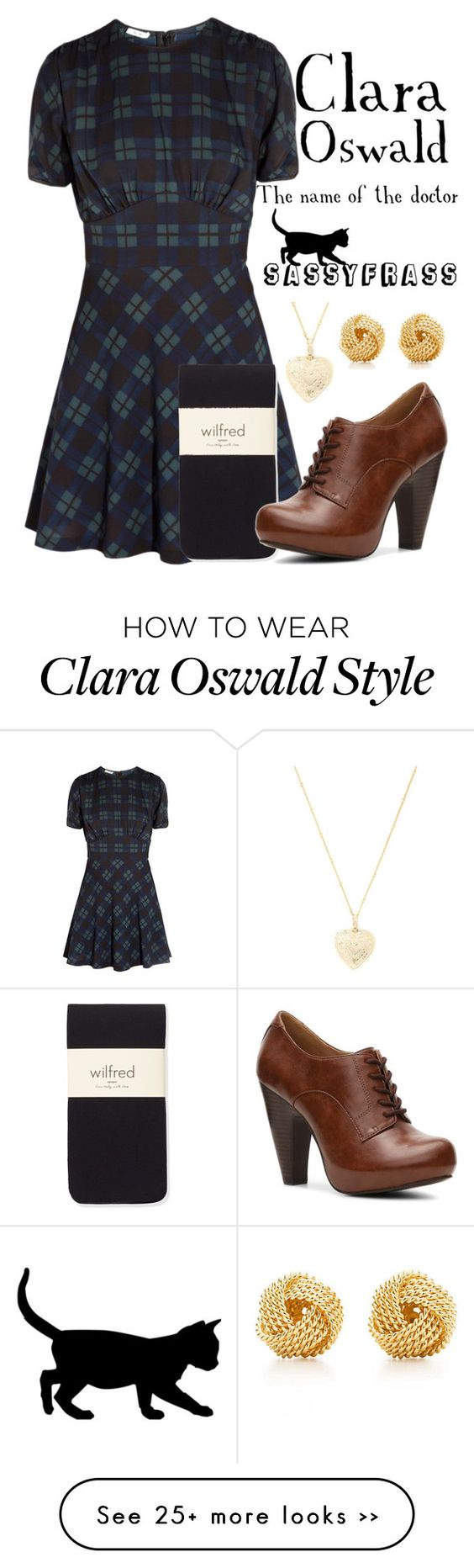 """""""Clara Oswald - The Name of the Doctor"""" by sassyfrasscat on Polyvore"""