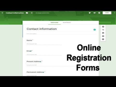 How To Create Online Registration Form Using Google Docs Forms Youtube Online Registration Form Registration Form Online Registration