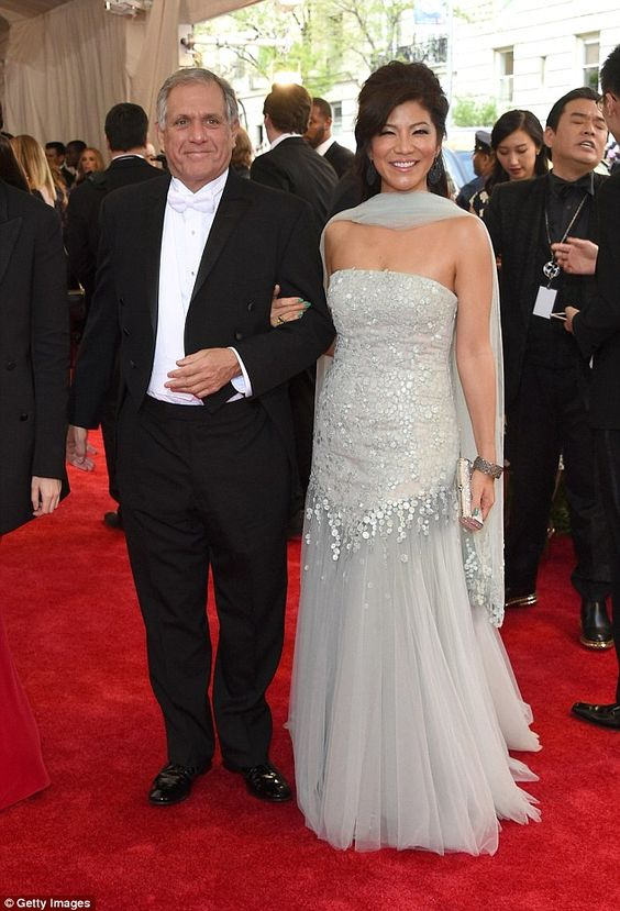 CBS chairman Leslie Moonves attended with The Talk co-host Julie Chen...